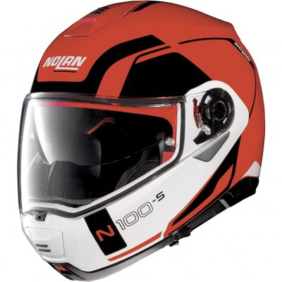 Casque Moto Modulable NOLAN - N100 5 Consistency n-Com Corsa Red