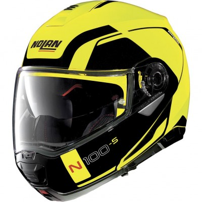 Casque Moto Modulable NOLAN - N100 5 Consistency n-Com Led Yellow