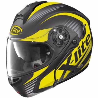 Casque Moto Modulable NOLAN - X1004 Nordhelle n-Com Flat Black/yellow