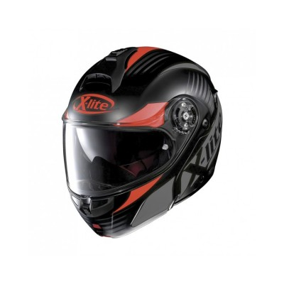 Casque Moto Modulable NOLAN - X1004 Nordhelle n-Com Flat Black/Red
