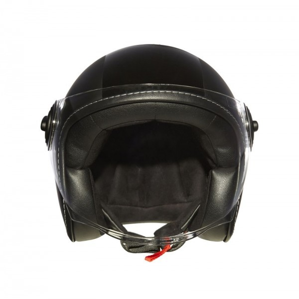 casque moto jet strada deco noir de style vintage equipement motard. Black Bedroom Furniture Sets. Home Design Ideas