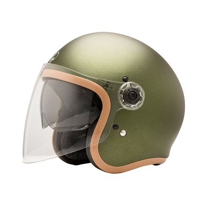 CASQUE JET HERA 2 - MÂRKÖ (Mat British Green)
