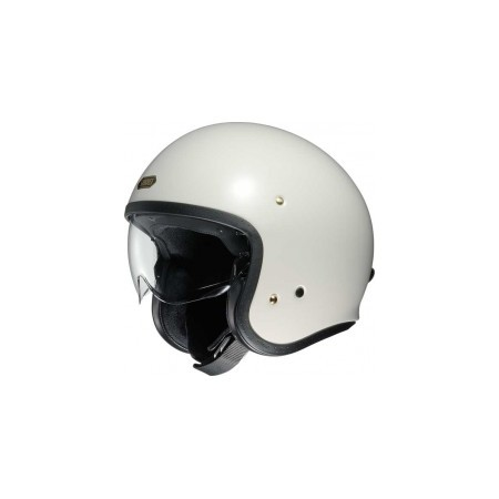 casque moto jet homme shoei j o off blanc equipement motard. Black Bedroom Furniture Sets. Home Design Ideas